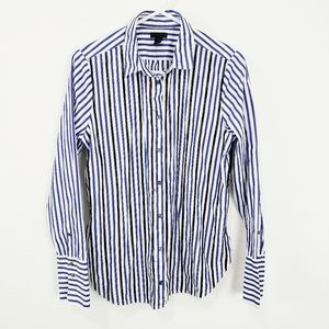 J. Crew | Striped Beaded Button Down Top Size 12